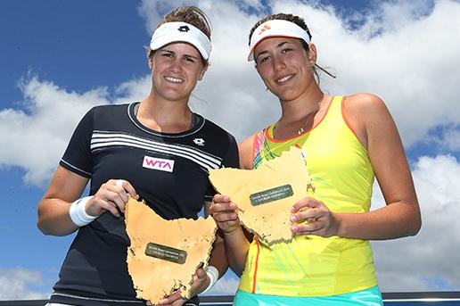 Doubles Final winners Garbine Muguruza and Maria-Teresa Torro-Flor