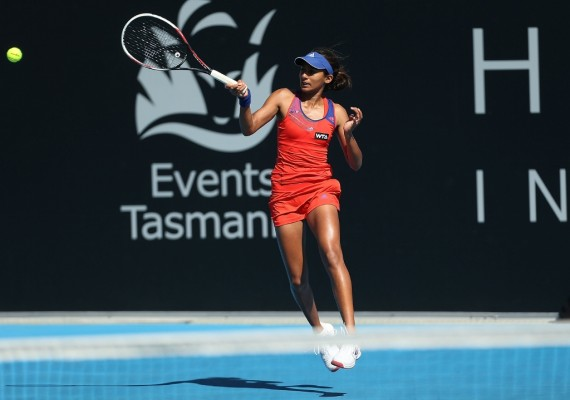 Australian Naiktha Bains is into the third round of qualifying. Picture: Getty Images
