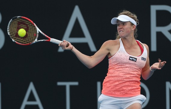 Ukrainian teen Elina Svitolina challenged German Mona Barthel early, but couldn't win their first round match. Picture: Getty Images