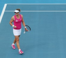 Top seed Samantha Stosur was excited to get her first win of 2014 in front of her Australian fans. Picture: Getty Images