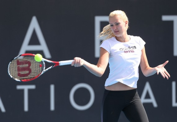 Frenchwoman Kristina Mladenovic faces Australia's Samantha Stosur in the second round today. Picture: Getty Images
