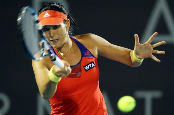 Spanish qualifer Garbine Muguruza upset second seed Kirsten Flipkens to book a semi-final berth. Picture: Getty Images