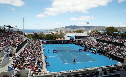 A big crowd enjoys the final on a beautiful Hobart day. Picture: Getty Images
