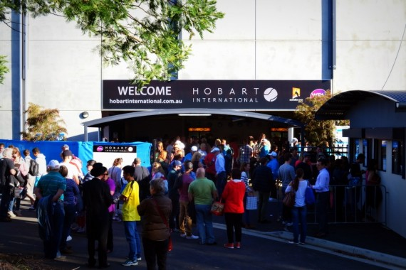 A huge crowd attended day four of the Hobart International and were treated to some brilliant tennis. Picture: Kaytie Olsen