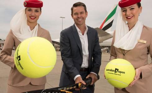 Todd Woodbridge, Emirates, flight attendant