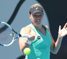 Kaia Kanepi booked her spot in the second round with a solid display. Picture: Mark Metcalfe/Getty Images