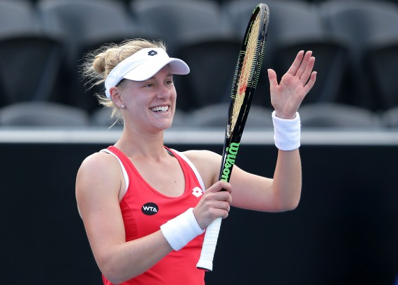 Alison Riske has booked her semi-final berth with Heather Watson. Picture: Getty Images