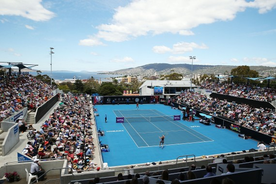 iiNet will provide free wifi for spectators around the grounds at the Domain Tennis Centre. Picture: Getty Images