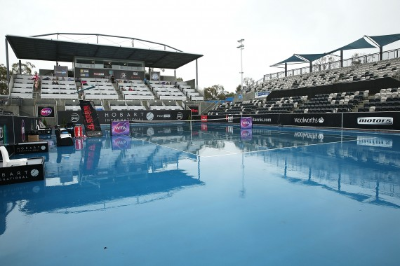 The rain has affected today's schedule at the Hobart International. Picture: Getty Images