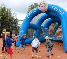 Hobart International Kids Tennis Day presented by Nickelodeon. Picture: Briony Craber