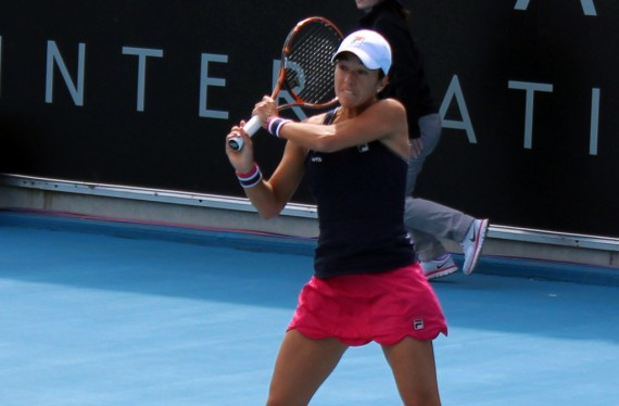 Silvia Soler-Espinosa proved too solid an opponent for Taylor Townsend. Picture: Michael Beattie
