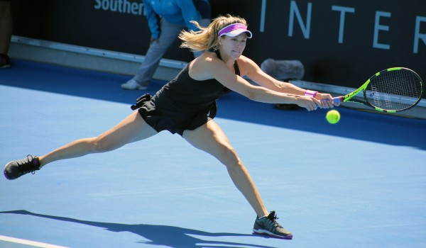 HEADLINE ACT: Former world No.5 Eugenie Bouchard has a tough quarterfinal match against second seed Camila Giorgi today. Picture: Kaytie Olsen