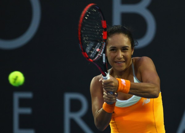 ON TRACK: Heather Watson has started her Hobart International defense in style. Picture: Getty Images
