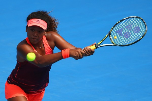 BIG HITTER: Qualifer Naomi Osaka's firepower helped her upset Australia's Jarmila Wolfe. Picture: Getty Images