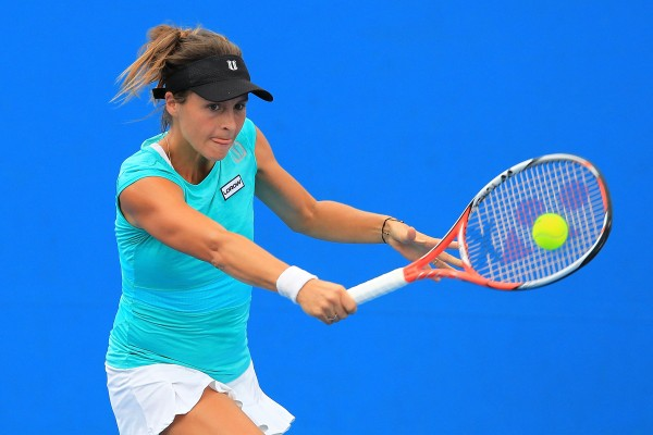 BACK IN THE GAME: A one-handed backhand is one of many big changes since Tatjana Maria last played in Hobart. Picture: Getty Images