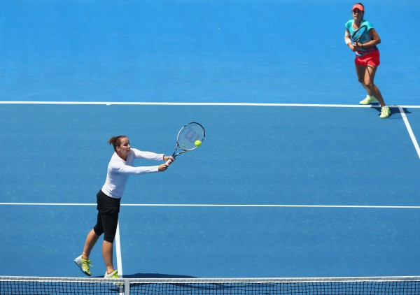 Australian pair Jarmila Wolfe and Kimberly Birrell were impressive in the semifinals. Picture: Getty Images