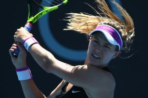 The relentless pressure from Alize Cornet made it difficult for Eugenie Bouchard today. Picture: Getty Images