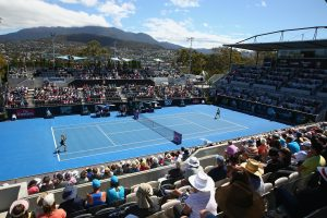Sunshine was out over the picturesque Domain Tennis Centre for today's final. Picture: Getty Images
