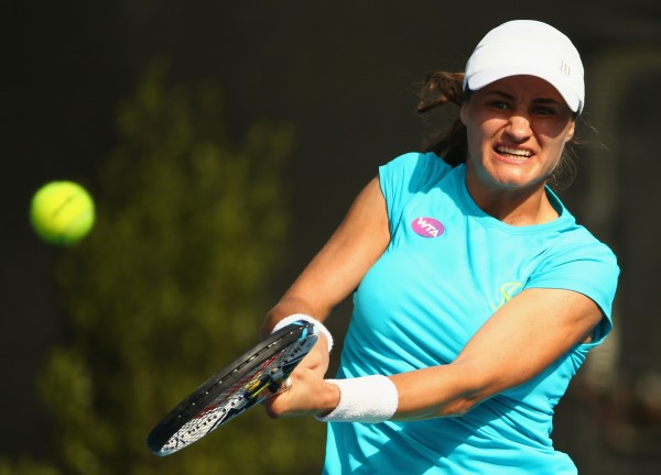 HAPPY TO BE BACK: Hobart brings the best out of Monica Niculescu. Picture: Getty Images