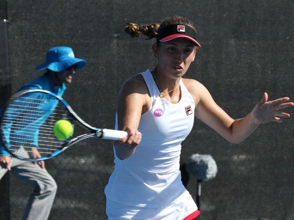 IN FORM: Qualifier Elise Mertens stunned seventh seed Kristina Mladenovic. Photo: Tim Ikin