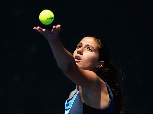 SERVING NOTICE: Australian teen Jaimee Fourlis is ready to make her WTA main draw debut in Hobart; Getty Images