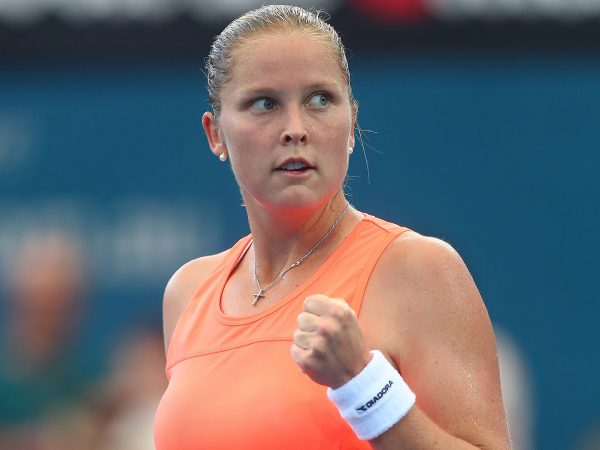 PERFECT DEBUT: American Shelby Rogers upset second seed Anastasija Sevastova in the opening round; Getty Images