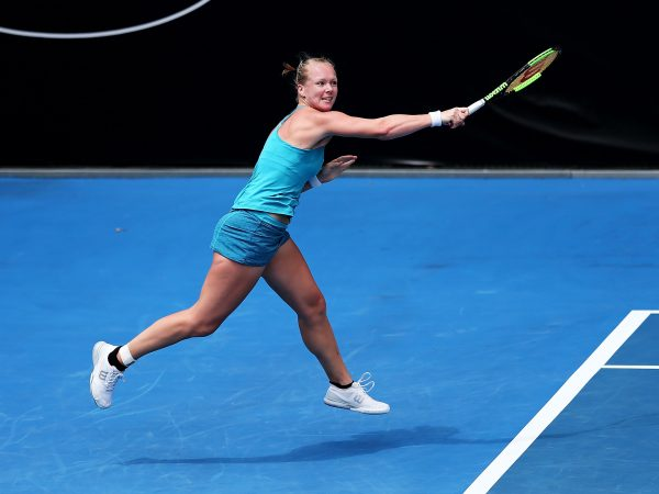 IMPRESSIVE START: Top seed Kiki Bertens has powered into the Hobart International second round; Getty Images