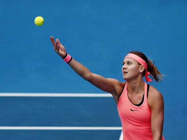 DOMINATING: Lucie Safarova serve was on song during her first round win; Getty Images