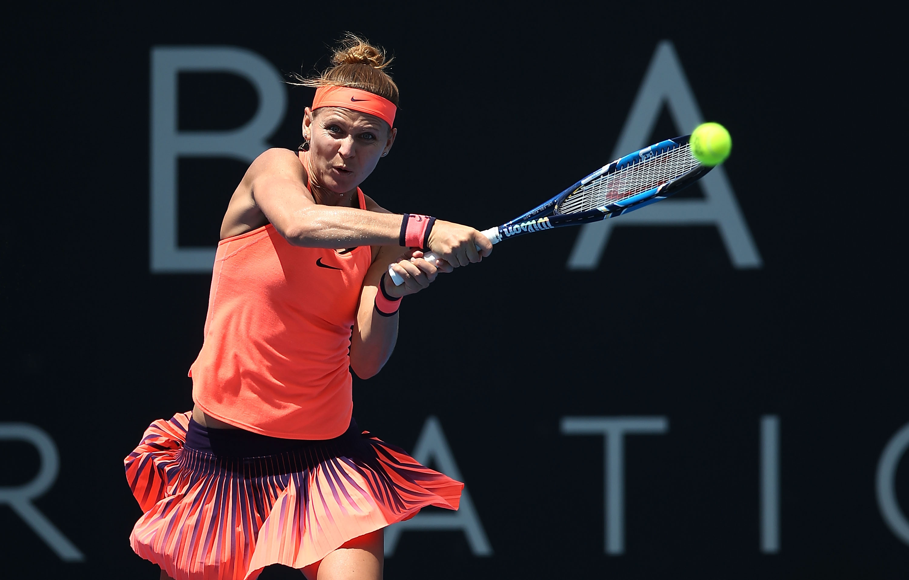 FIRING: Czech Lucie Safarova came out firing in her second round match today; Getty Images