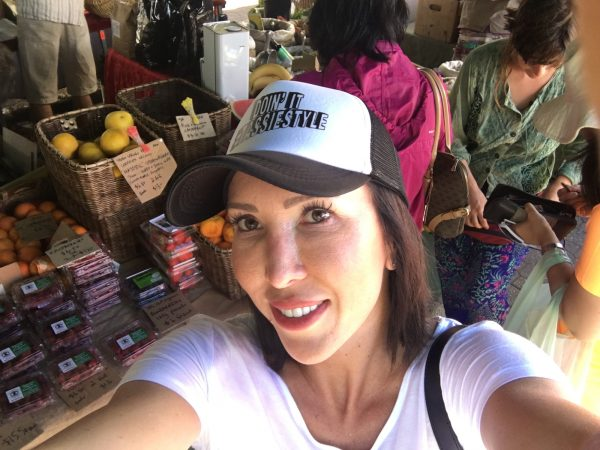 DOIN' IT TASSIE STYLE: Former world No.1 Jelena Jankovic was all smiles as she explored Hobart's Salamanca Markets.