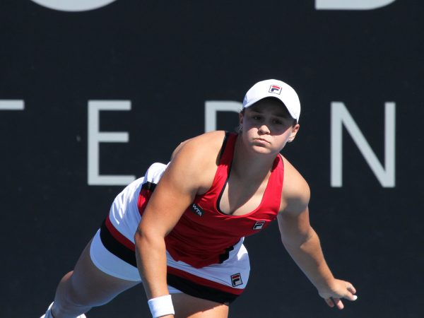 POWERING ON: Australian wildcard Ashleigh Barty in round one qualifying action. Photo: Tim Ikin