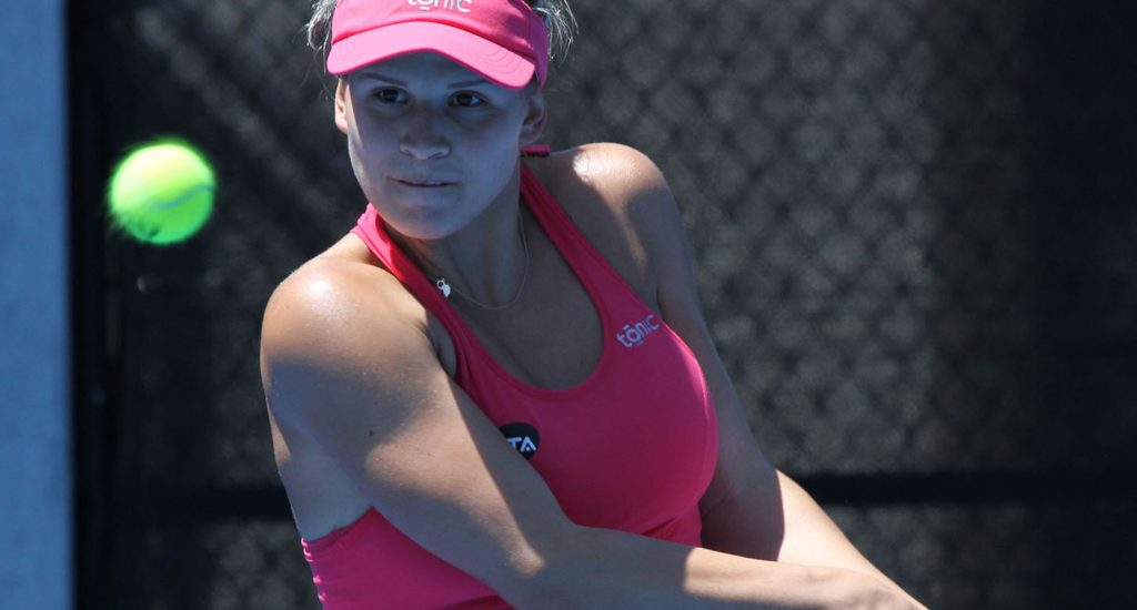 BIG WIN: Croatian Jana Fett is into the second round at the Hobart International. Photo: Tim Ikin