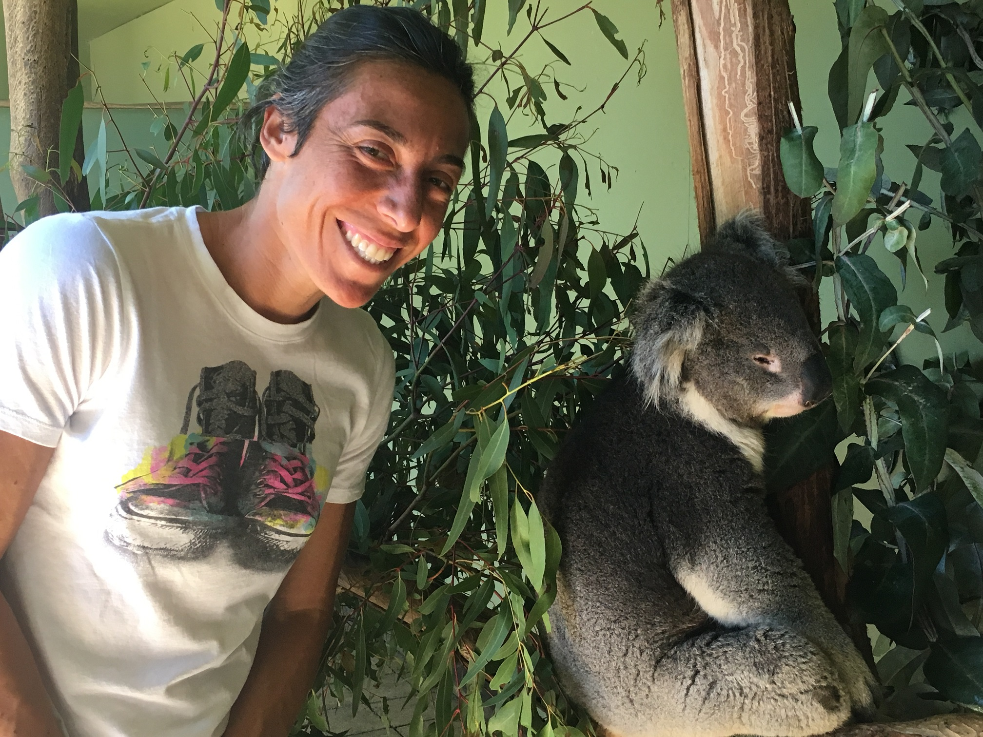 Gallery: Schiavone visits Bonorong Wildlife Sanctuary