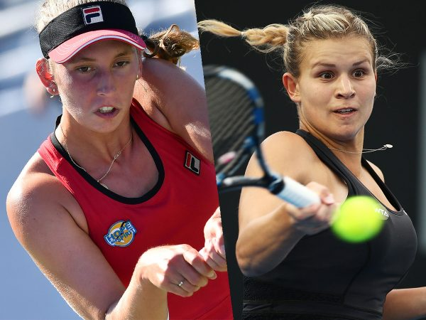 SEMIFINALISTS: Elise Mertens of Belgium and Jana Fett of Croatia meet in the semifinals today; Getty Images