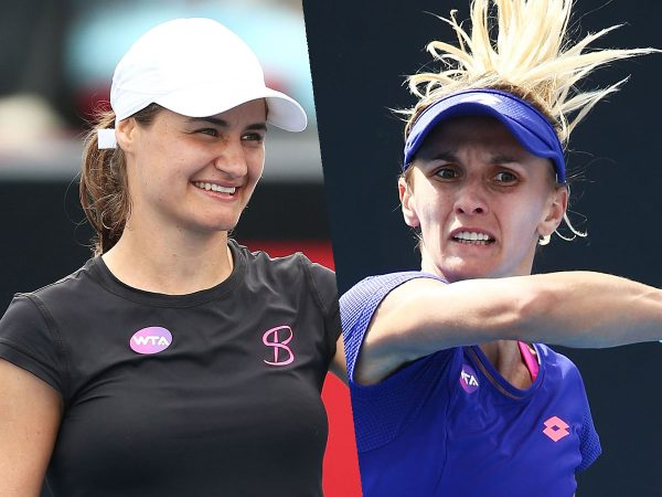 SEMIFINALISTS: Monica Niculescu and Lesia Tsurenko meet in the Hobart International semifinals tonight; Getty Images