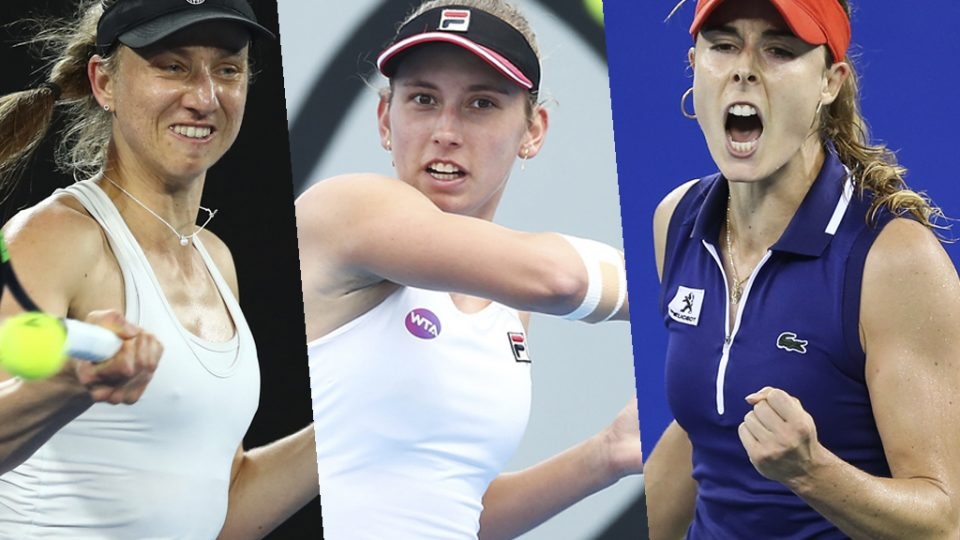 RETURNING: Former champions Mona Barthel, Elise Mertens and Alize Cornet will compete at Hobart International 2018. Photos: Getty Images