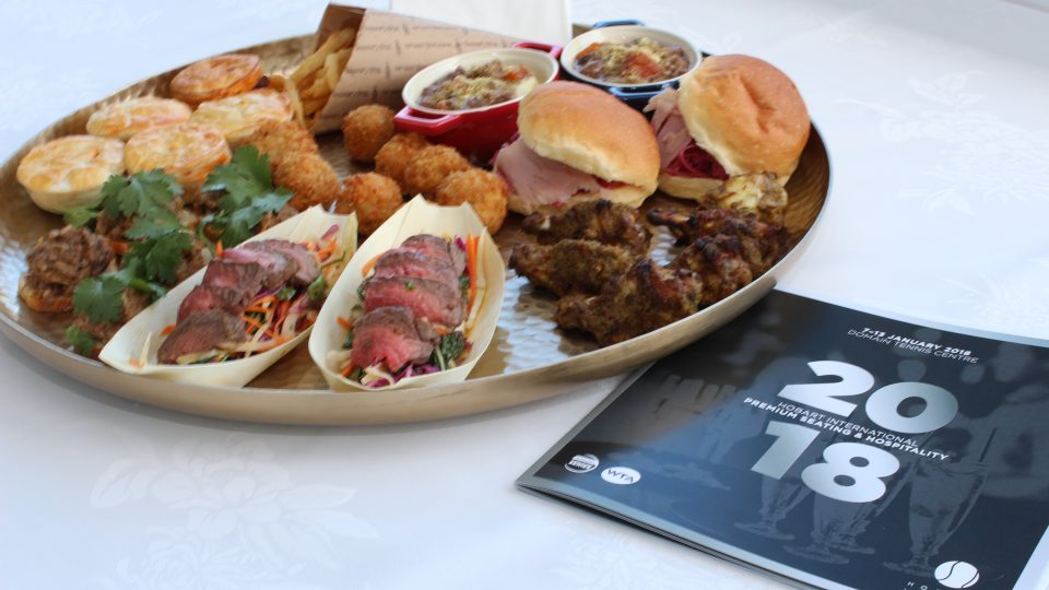 TASTY TREATS: A new menu is just one of the big changes slated for Hobart International 2018