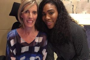 RESPECTED: Angie Cunningham with 23-time Grand Slam champion Serena Williams. Picture: WTA