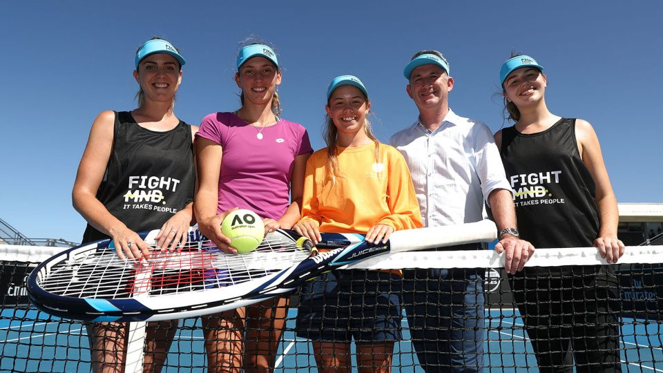 SHOWING SUPPORT: The Hobart International team, including defending champion Elise Mertens, is supporting the Smash MND campaign this summer; Getty Images