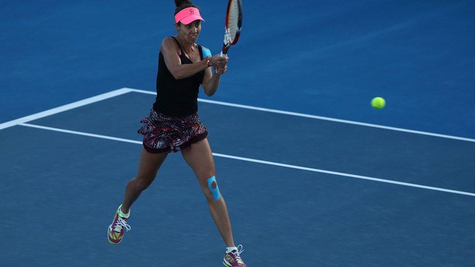 FIGHTING SPIRIT: Mihaela Buzarnescu overcome a slow start to beat Alison Riske; Getty Images