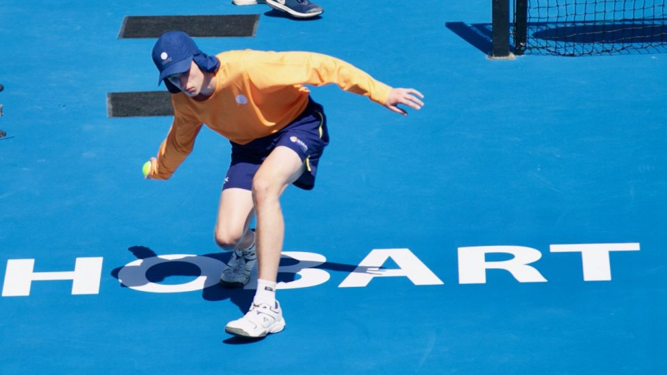 IN ACTION: Ballkids play an important role at the Hobart International