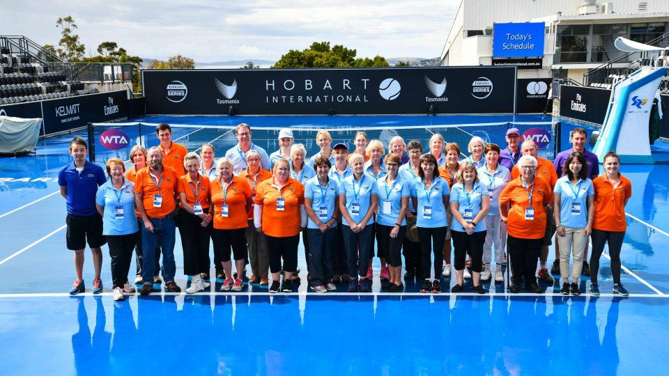 Volunteers at Hobart International 2018