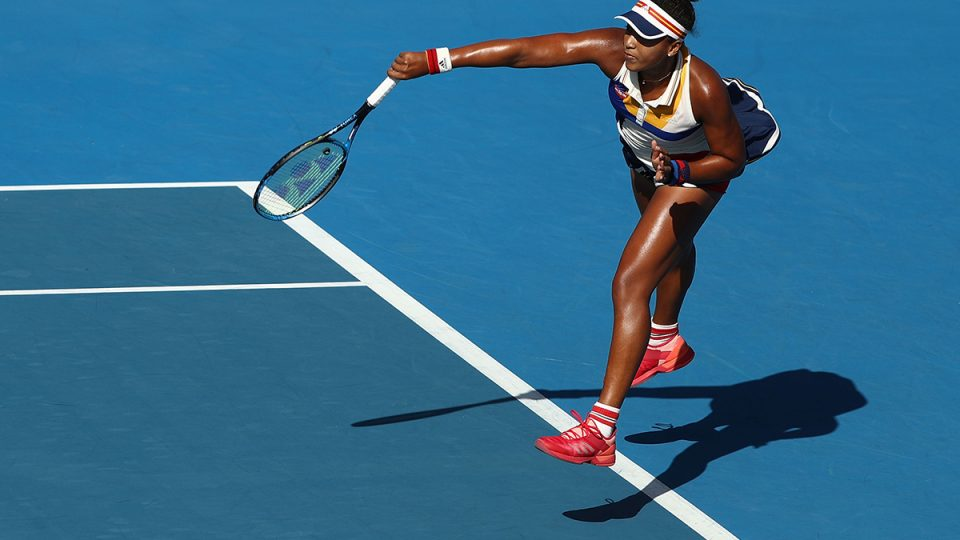 LIVE LIKE A PLAYER: Naomi Osaka, world No.5 and reigning US Open champion, serves during Hobart International 2018; Getty Images
