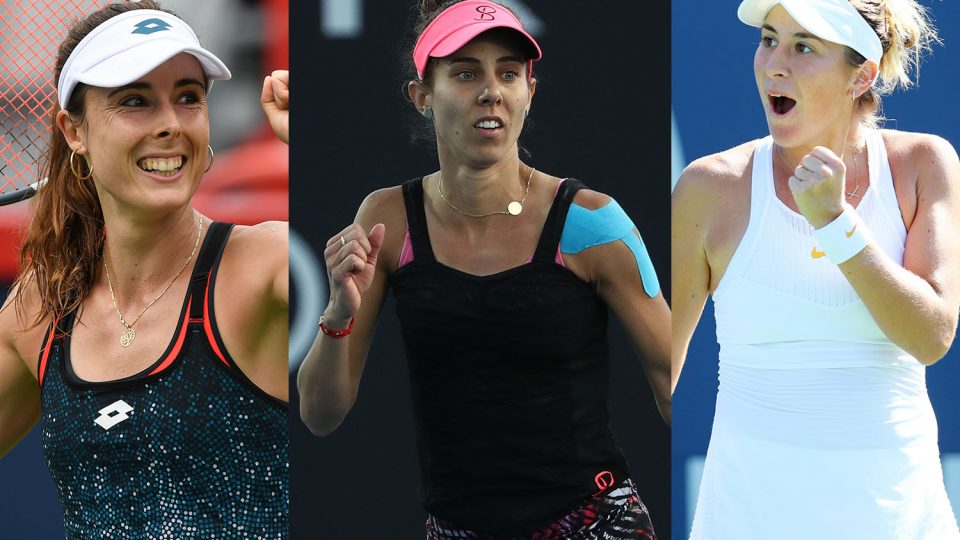 STAR LINE-UP: Alize Cornet, Mihaela Buzarnescu and Belinda Bencic will compete at the Hobart International in 2019; Getty Images