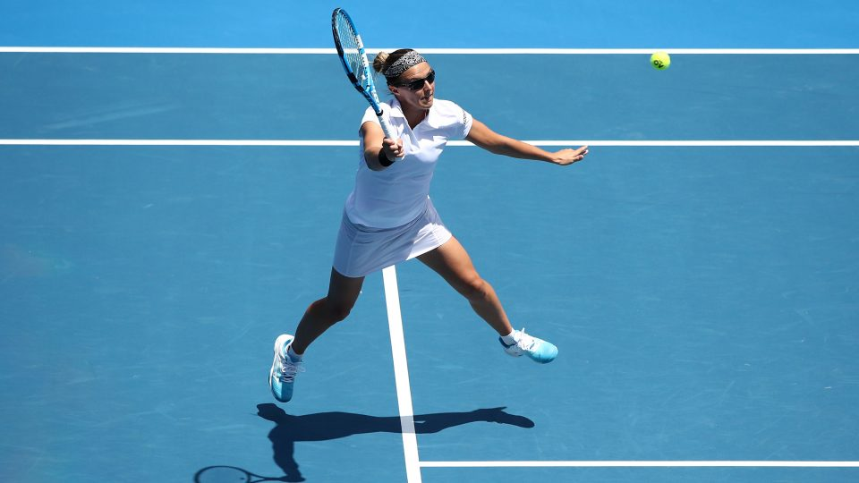 MOVING ON: Kirsten Flipkens is into the Hobart International quarterfinals; Getty Images