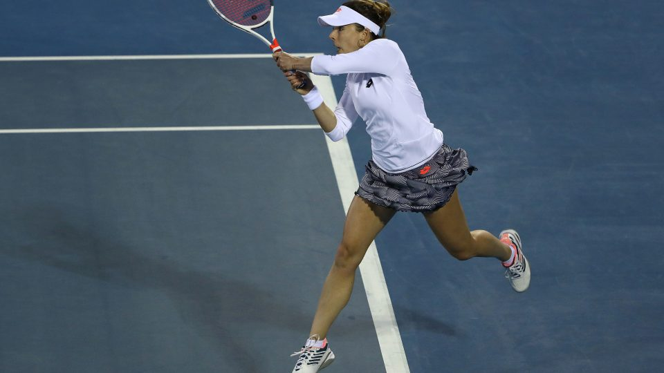 IMPRESSIVE WIN: Alize Cornet had all the answers against Pauline Parmentier tonight; Getty Images