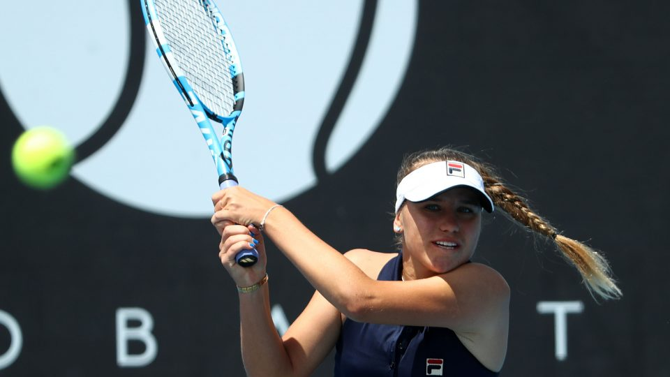 MOVING ON: American Sofia Kenin is through to the Hobart International semifinals; Getty Images
