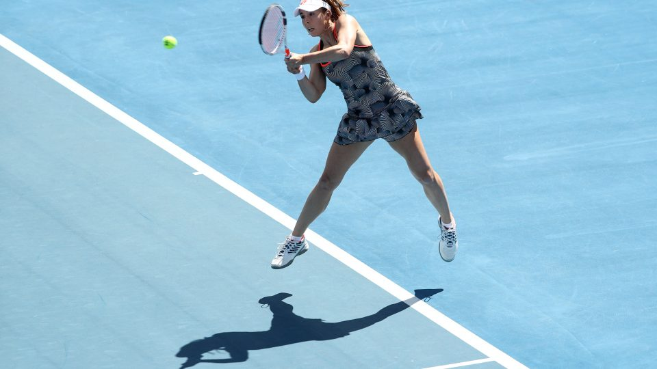 FLYING: Alize Cornet is into the Hobart International semifinals; Getty Images