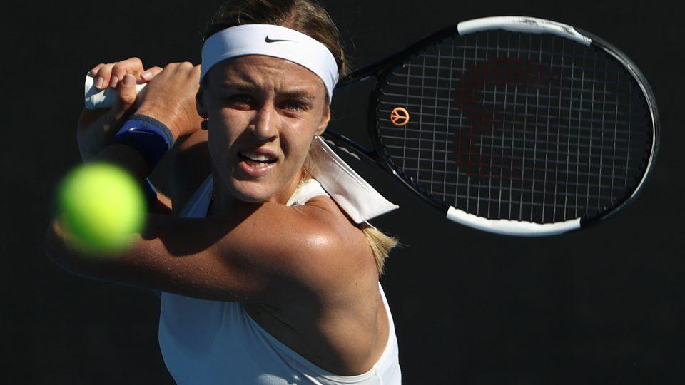 WINNING RUN: Anna Karolina Schmiedlova upset Belinda Bencic to reach the Hobart International final; Getty Images