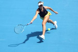 ON THE RUN: Sofia Kenin chased down every ball; Getty Images